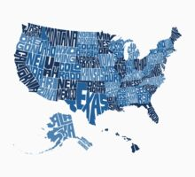 USA States Blue Kids Clothes