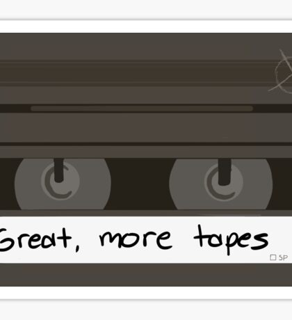 Great, more tapes (horizontal) Sticker
