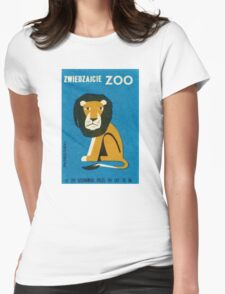 Polish Zoo Lion Matchbox Label Womens Fitted T-Shirt