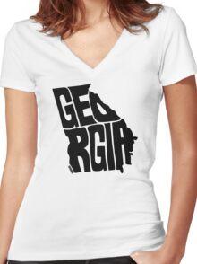 Georgia Women's Fitted V-Neck T-Shirt