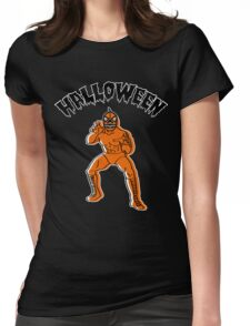 Jack-o'-Lantern LUCHADOR Womens Fitted T-Shirt