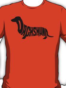 Dachshund Black T-Shirt