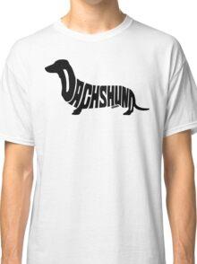 Dachshund Black Classic T-Shirt
