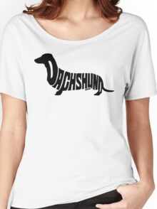 Dachshund Black Women's Relaxed Fit T-Shirt