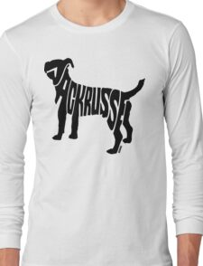 Jack Russel Black Long Sleeve T-Shirt