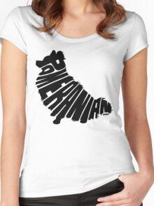 Pomeranian Black Women's Fitted Scoop T-Shirt