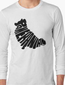 Pomeranian Black Long Sleeve T-Shirt