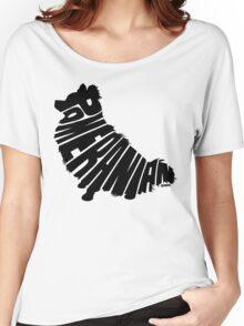 Pomeranian Black Women's Relaxed Fit T-Shirt