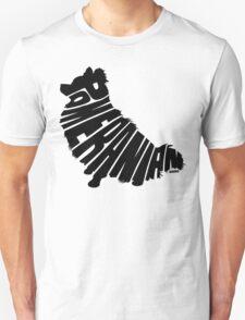 Pomeranian Black Unisex T-Shirt