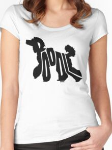 Poodle Black Women's Fitted Scoop T-Shirt