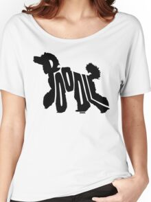 Poodle Black Women's Relaxed Fit T-Shirt