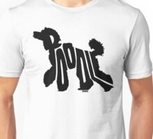 Poodle Black Unisex T-Shirt