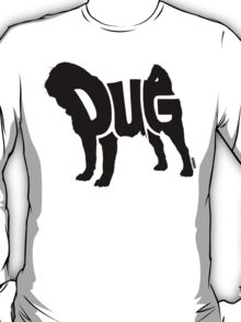 Pug Black T-Shirt