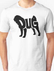 Pug Black Unisex T-Shirt