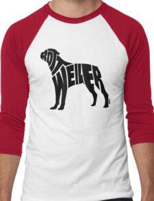 Rottweiler Black Men's Baseball ¾ T-Shirt