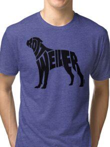 Rottweiler Black Tri-blend T-Shirt