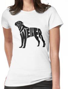 Rottweiler Black Womens Fitted T-Shirt