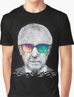 Albert Hofmann - Psychedelic Polygon Crystalised Portrait Graphic T-Shirt