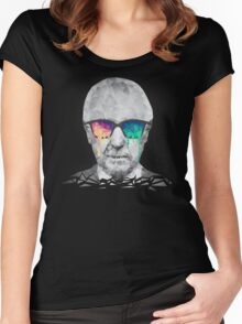 Albert Hofmann - Psychedelic Polygon Crystalised Portrait Women's Fitted Scoop T-Shirt