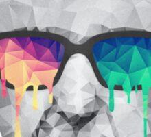 Albert Hofmann - Psychedelic Polygon Crystalised Portrait Sticker