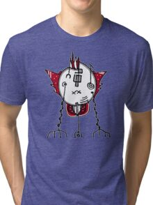 Alien Robot Hand Draw Illustration Tri-blend T-Shirt
