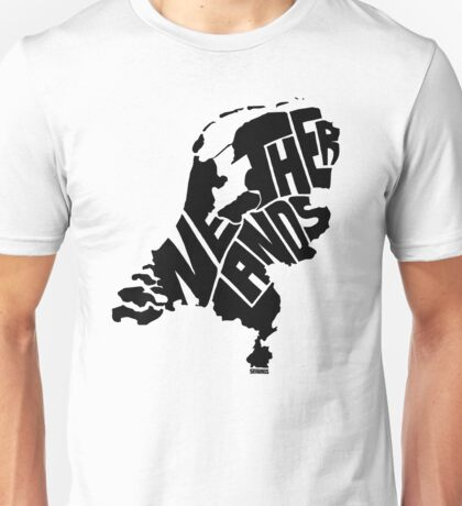 Netherlands Black Unisex T-Shirt