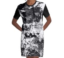 abstract  10-16bw Graphic T-Shirt Dress