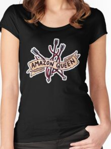 Amazon Queen Women's Fitted Scoop T-Shirt