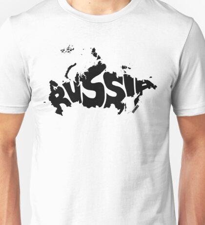 Russia Black Unisex T-Shirt