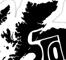 Scotland Black Sticker