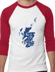 Scotland Blue Men's Baseball ¾ T-Shirt