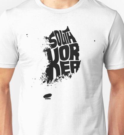South Korea Black Unisex T-Shirt
