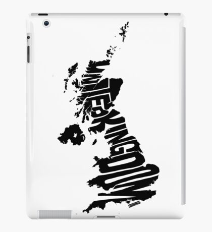 United Kingdom Black iPad Case/Skin