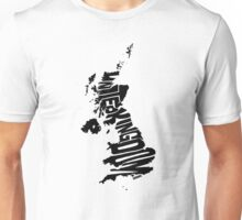 United Kingdom Black Unisex T-Shirt