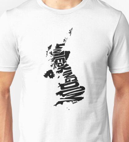 United Kingdom Black Unisex T-Shirt