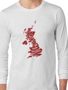 United Kingdom Red Long Sleeve T-Shirt