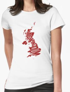 United Kingdom Red Womens Fitted T-Shirt