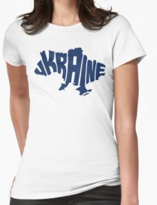 Ukraine Blue Womens Fitted T-Shirt