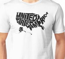 USA Black Unisex T-Shirt