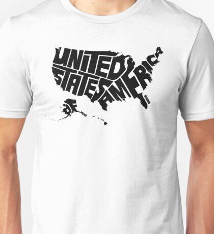 USA Black Unisex T-Shirt