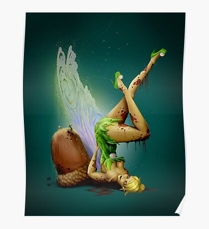 Zombie Pin-up Tinkerbell Poster