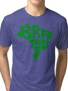 Brazil Green Tri-blend T-Shirt