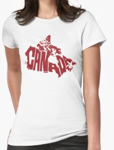 Canada Red Womens Fitted T-Shirt