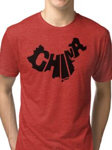 China Black Tri-blend T-Shirt