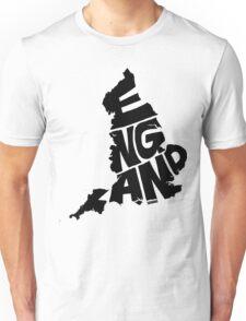 England Black Unisex T-Shirt