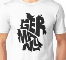 Germany Black Unisex T-Shirt