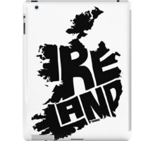 Ireland Black iPad Case/Skin