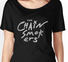 The Chainsmokers Silver Texture Women's Relaxed Fit T-Shirt