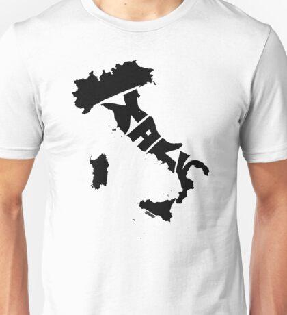 Italy Black Unisex T-Shirt