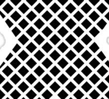 X Black Squares  Sticker